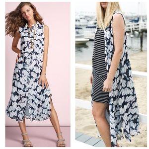 CAbi 5382 Cloudy Sky Sleeveless Button Front Dress